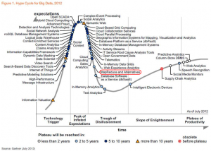 Big Data Hype Cycle 2012